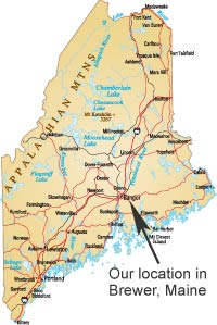 Location of our Brewer, Maine retirement community